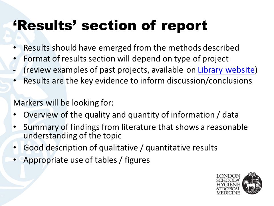data section of research paper