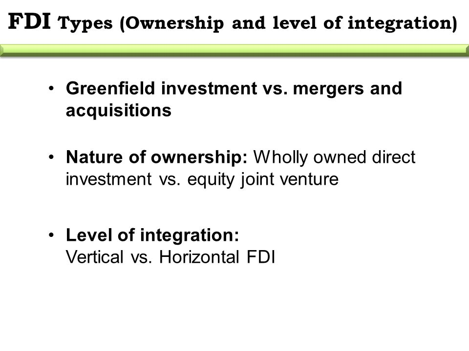 acquisition versus greenfield Acquisitions and greenfield investments - the pros and cons by terry irwin and you will need to decide whether the acquisition should be financed by cash or stock the pros of this approach are: you gain access to an established market greenfield investment.