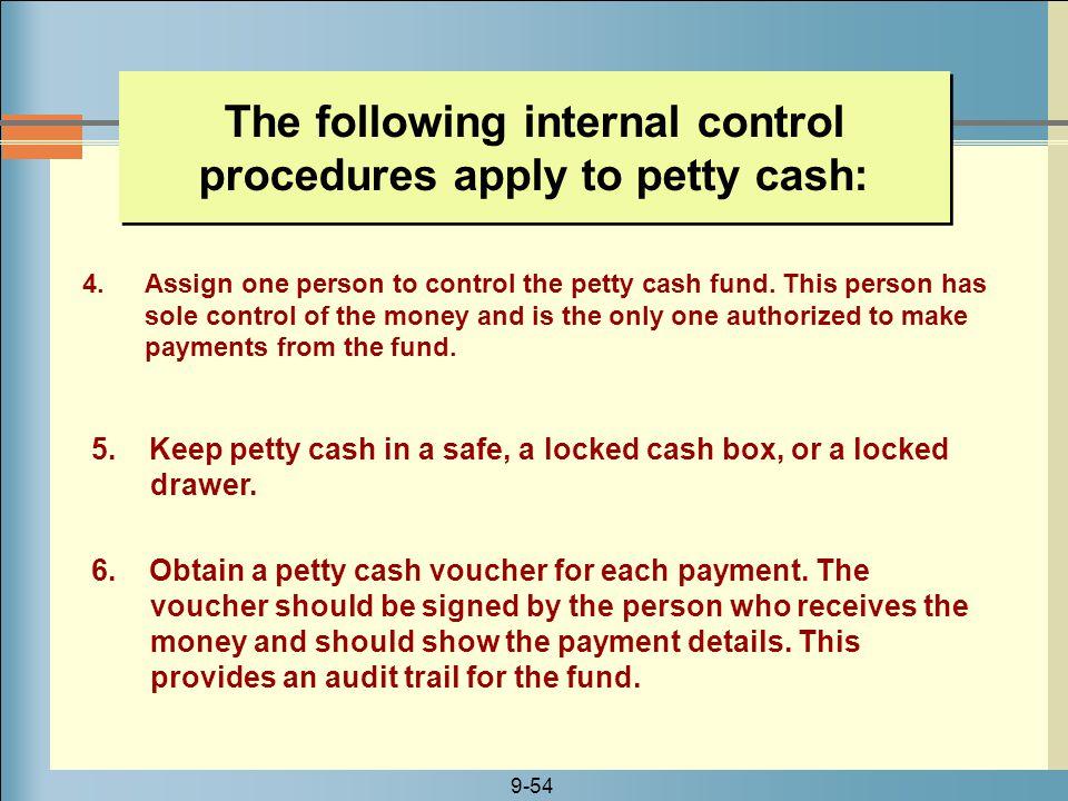 assignment internal cash control