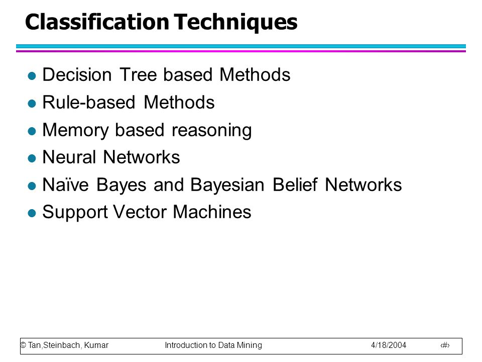 Classification Techniques