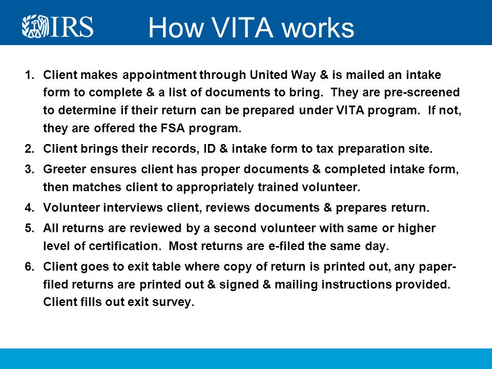 Volunteer Tax Assistance at - ppt download