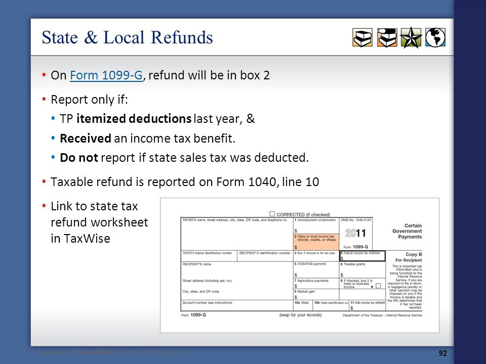 Volunteer Tax Assistance at ppt download – State Tax Refund Worksheet