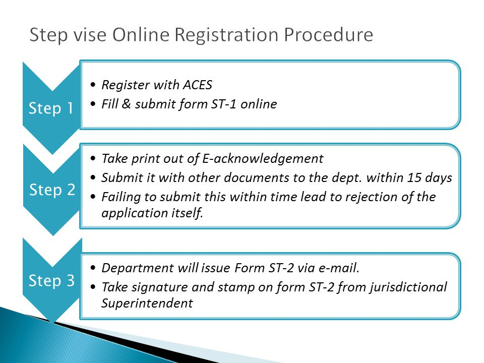 online application form service tax registration