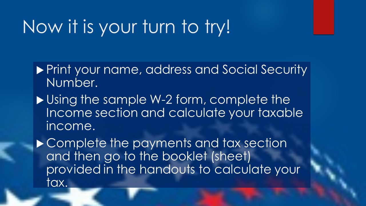 """Taxes for Teens Using the IRS """"1040EZ"""" Form. - ppt download"""
