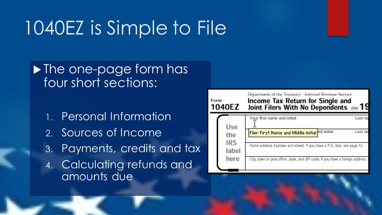 Taxes for teens using the irs 1040ez form ppt download 8 1040ez falaconquin