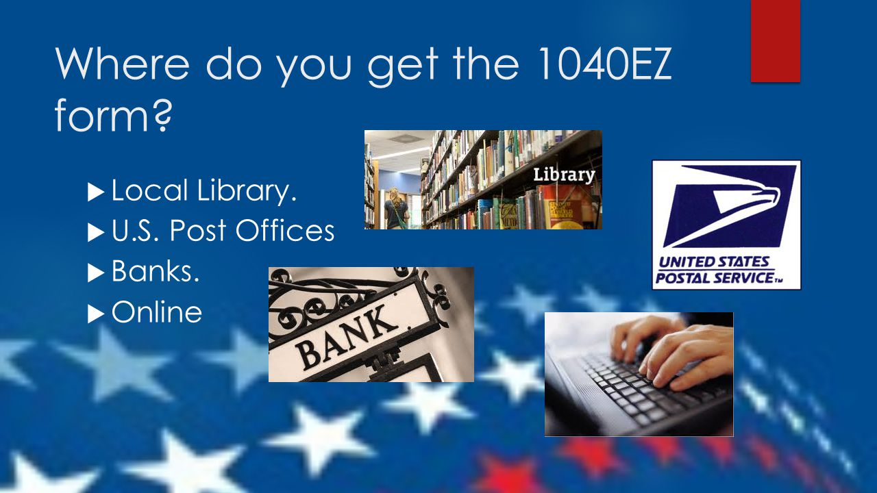 Taxes for teens using the irs 1040ez form ppt download where do you get the 1040ez form falaconquin
