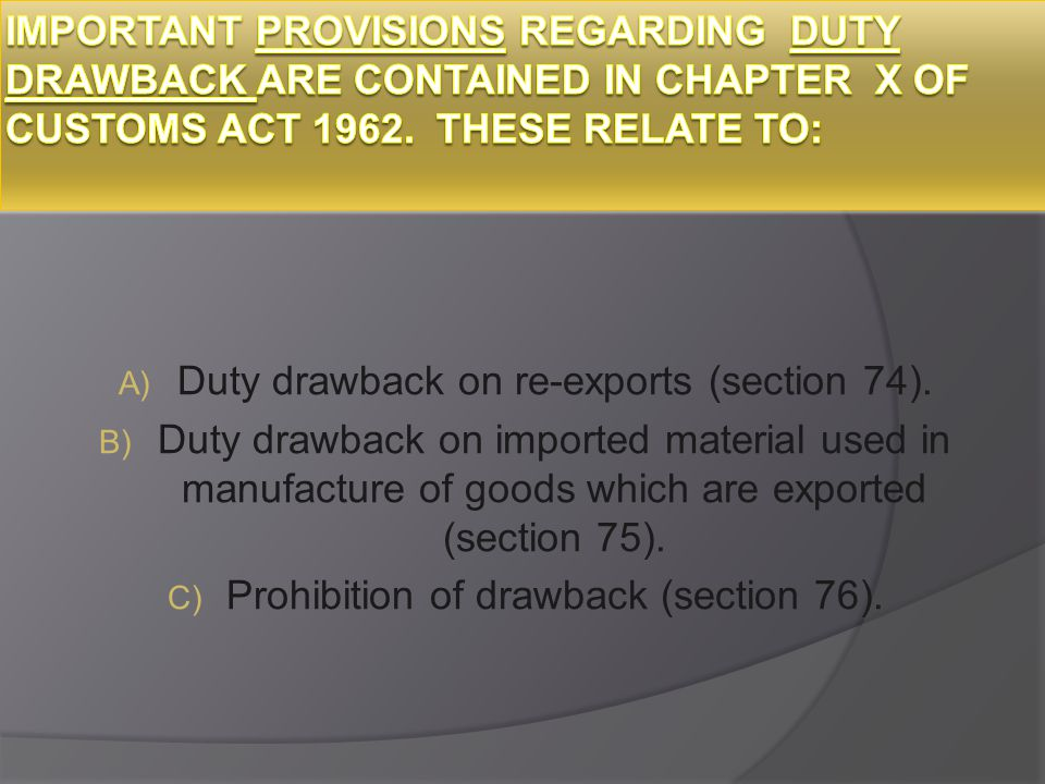 the customs act 1962 pdf