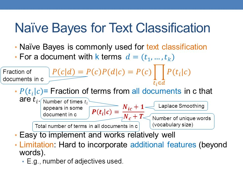 Naïve Bayes for Text Classification