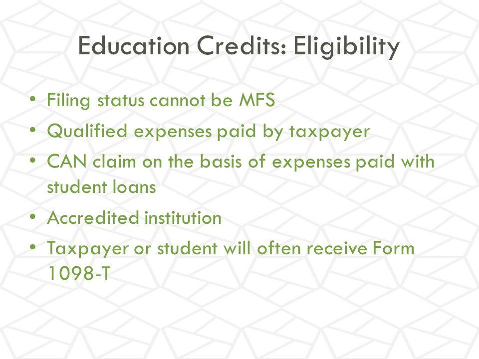 Education Credits: Eligibility