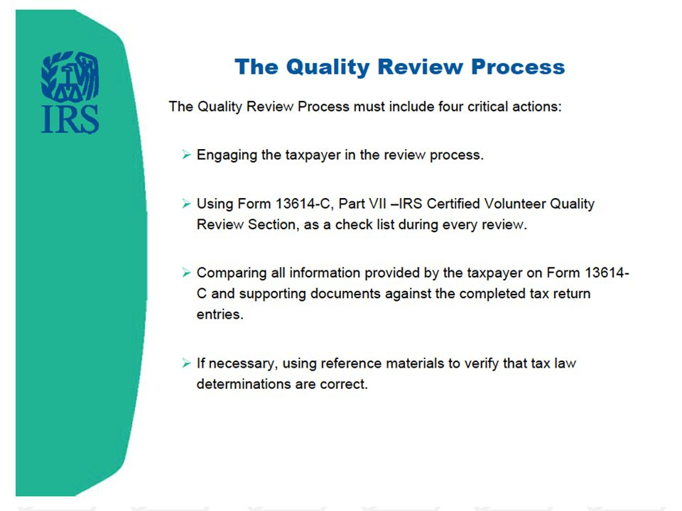 Before you start the quality review…