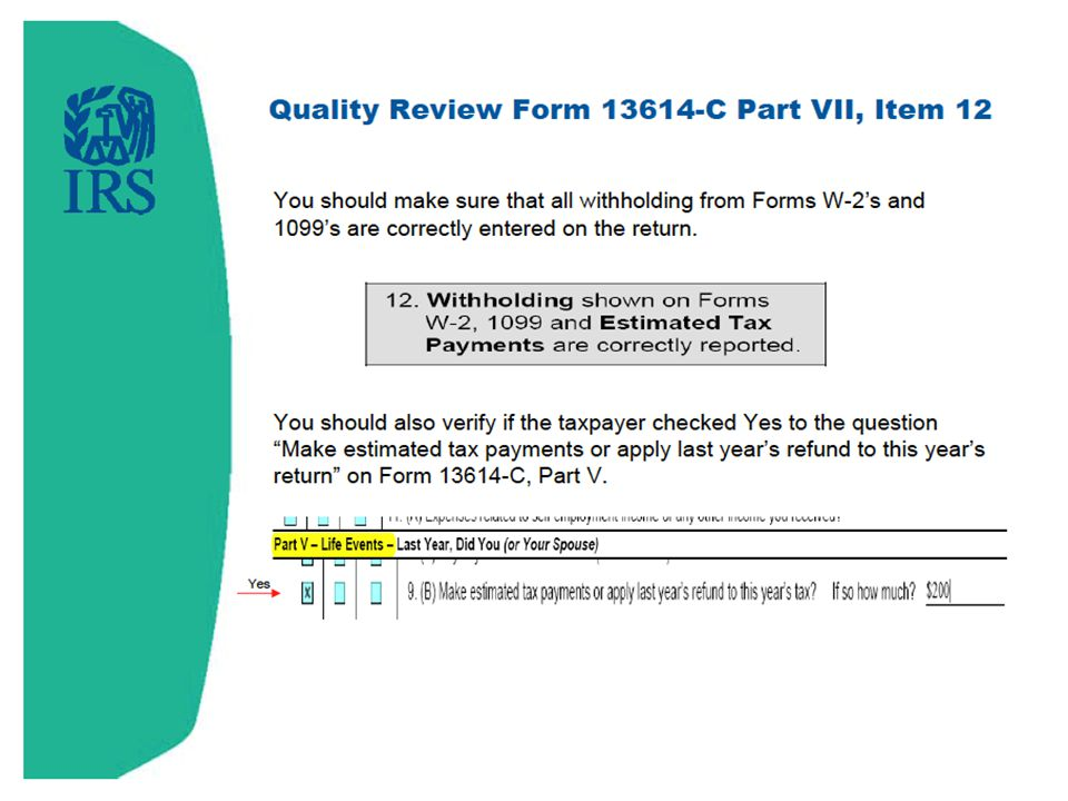 Withholding shown on Forms W-2, 1099 and Estimated Tax Payments are correctly reported.