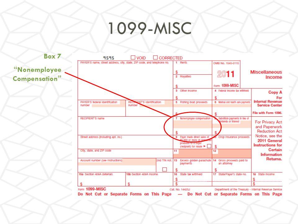 1099-MISC Box 7 Nonemployee Compensation