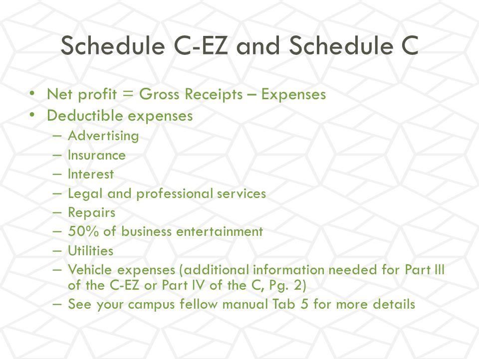 Schedule C-EZ and Schedule C