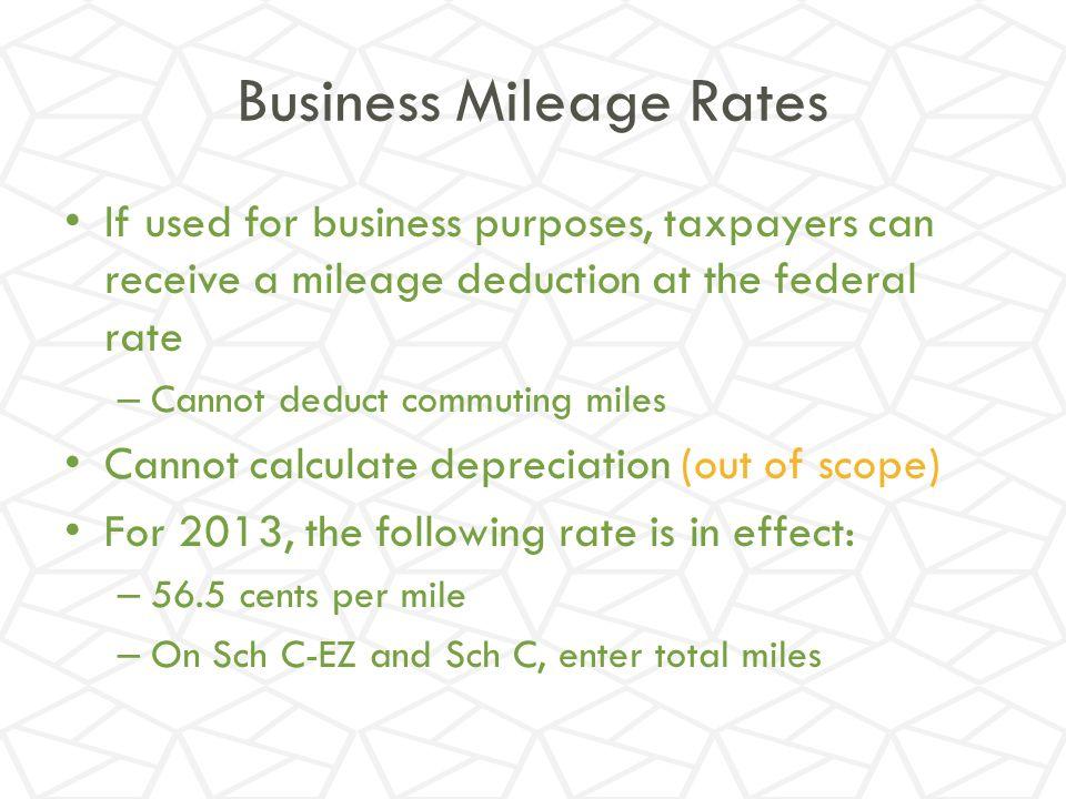 Business Mileage Rates