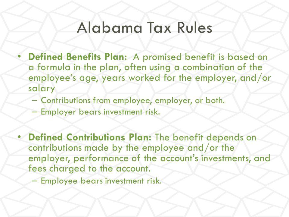 Alabama Tax Rules