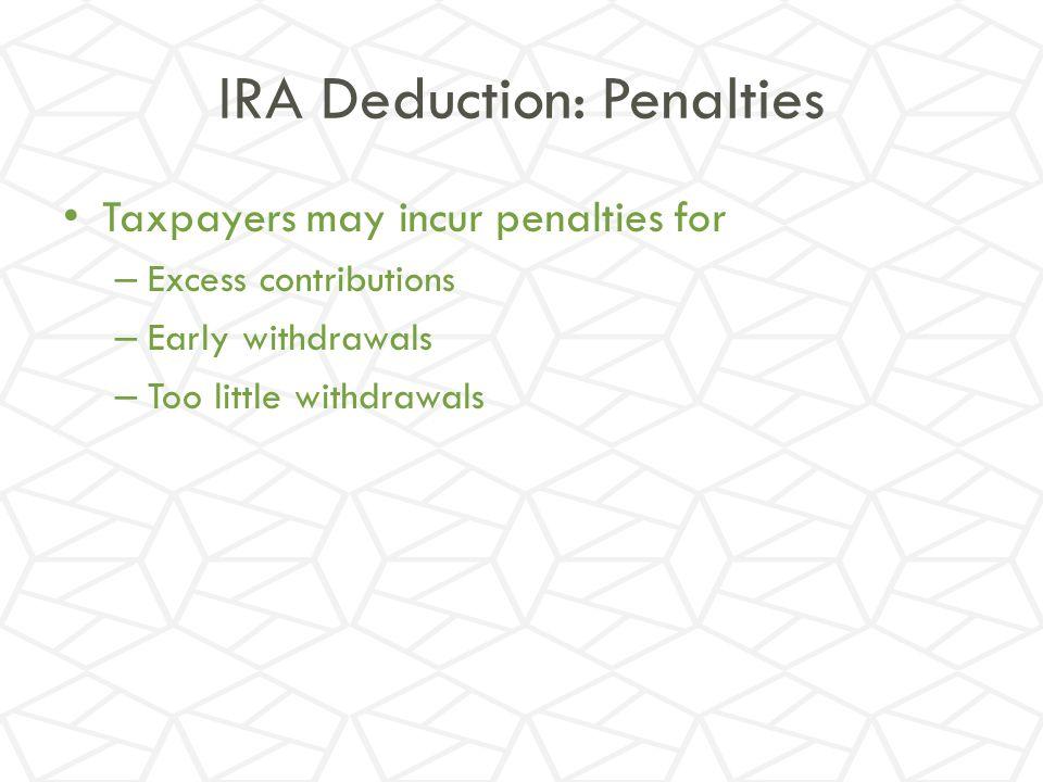 IRA Deduction: Penalties