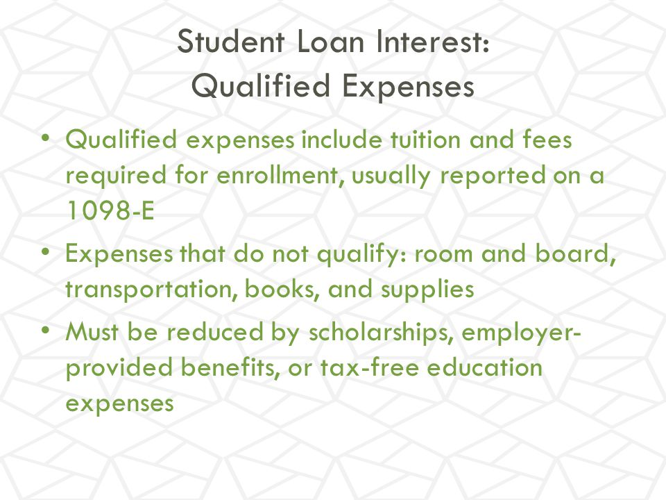 Room And Board Are Qualified Expenses If