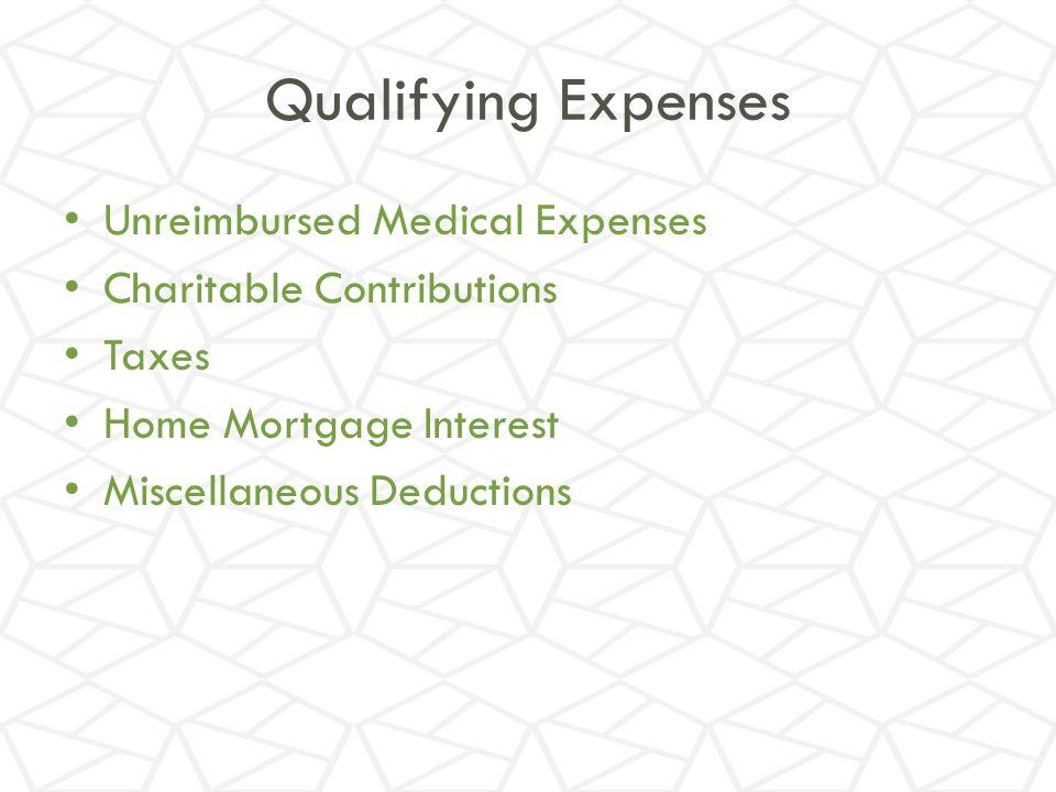Qualifying Expenses Unreimbursed Medical Expenses