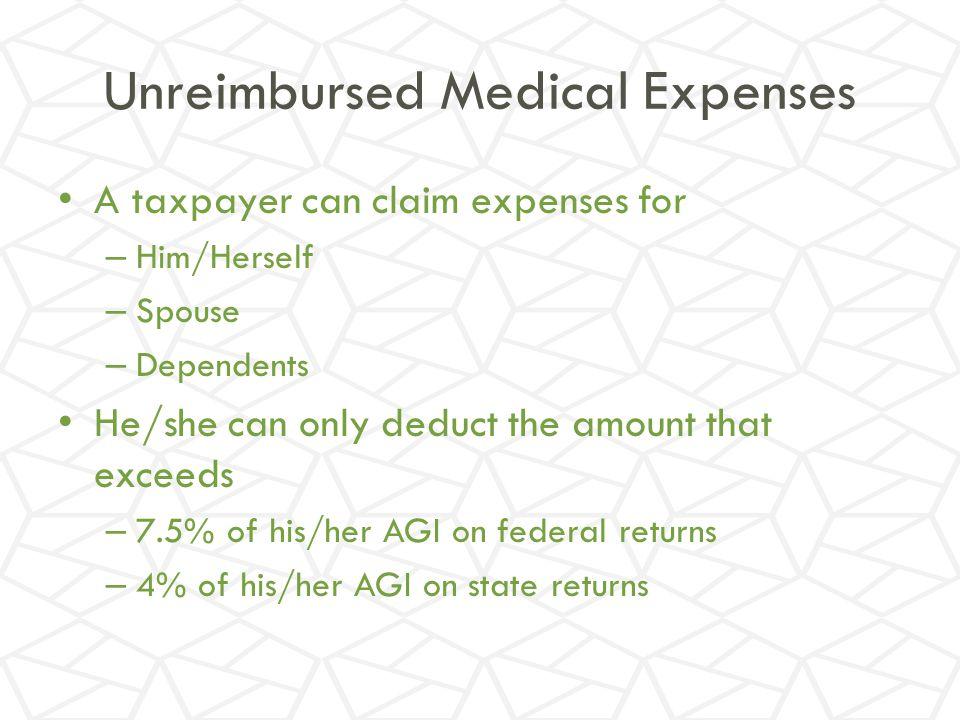 Unreimbursed Medical Expenses
