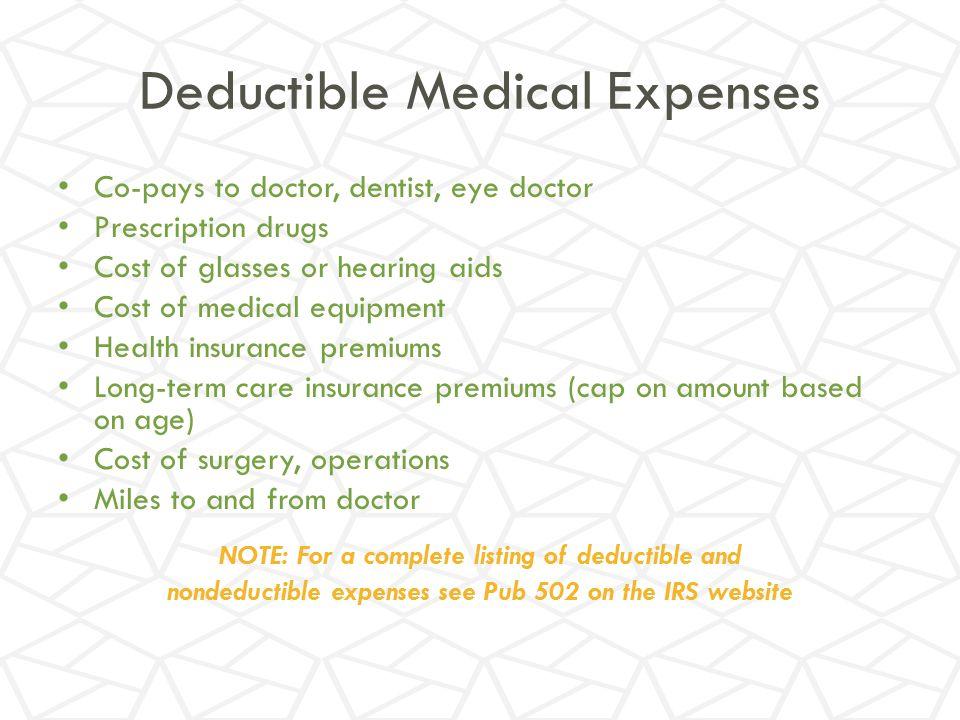 Deductible Medical Expenses