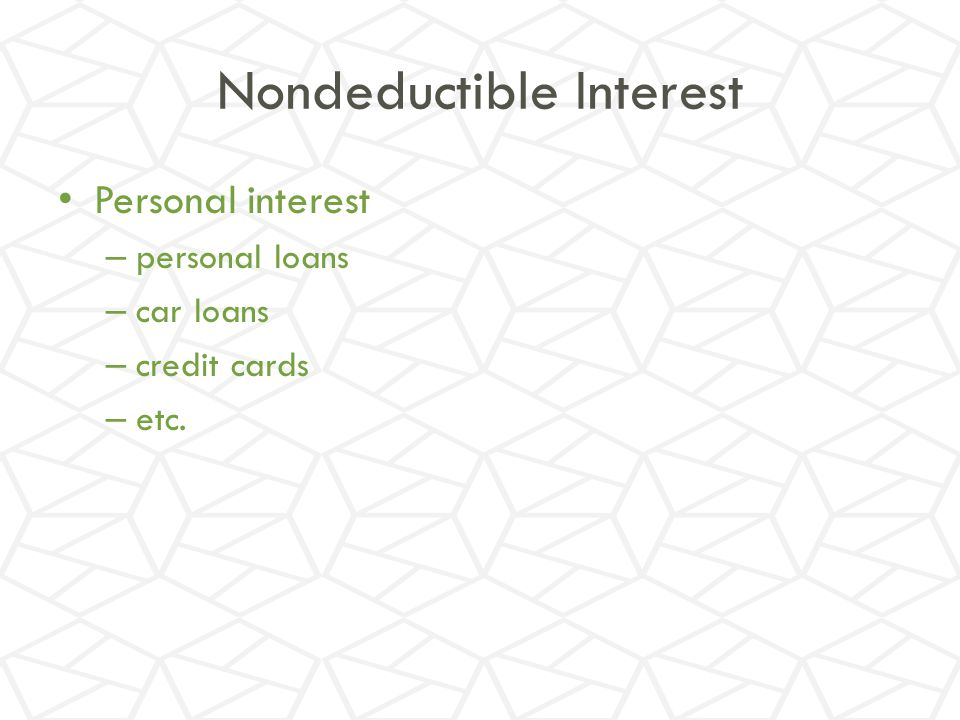Nondeductible Interest