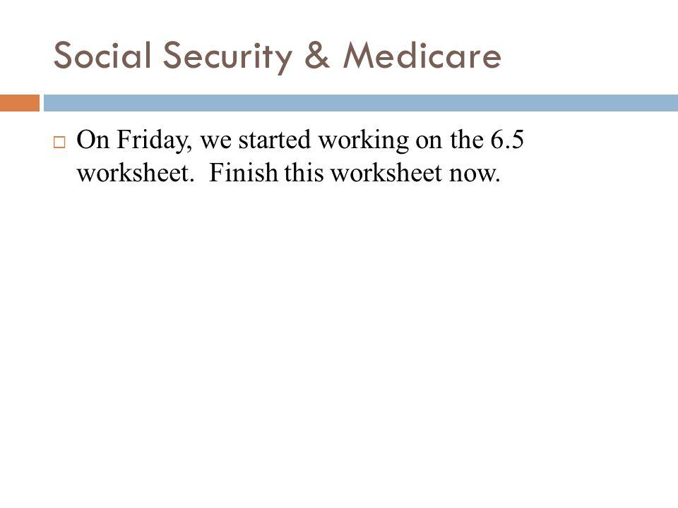 Social Security medicare ppt video online download – Social Security Worksheet