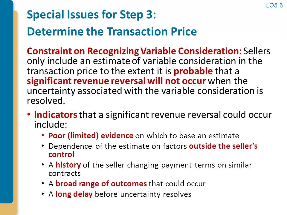 revenue recognition and profitability analysis