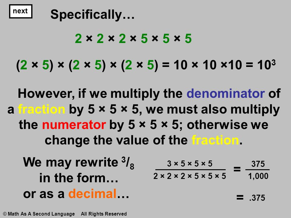 Converting Fractions to Decimals - ppt video online download