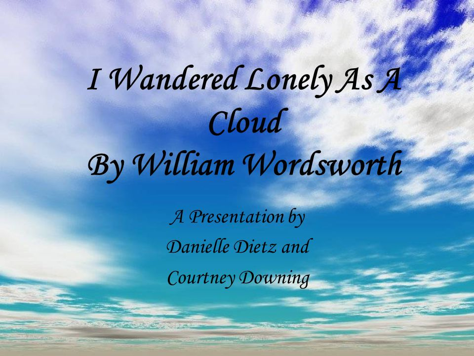 william wordsworth i wandered lonely as a cloud analysis