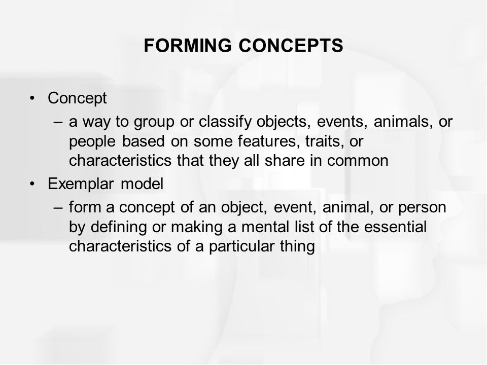 FORMING CONCEPTS Concept