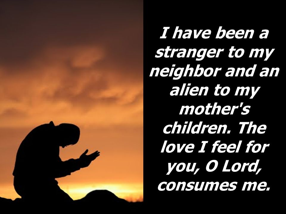 I have been a stranger to my neighbor and an alien to my mother s children.