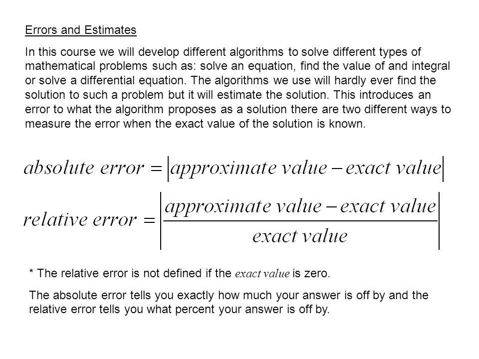 equation for percent relative error