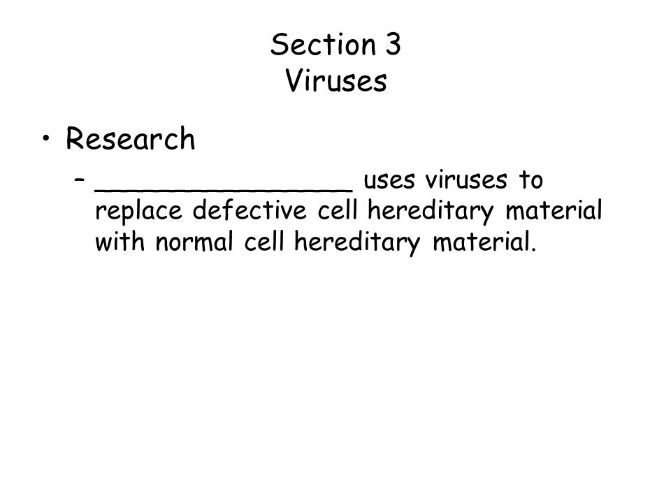 Section 3 Viruses Research