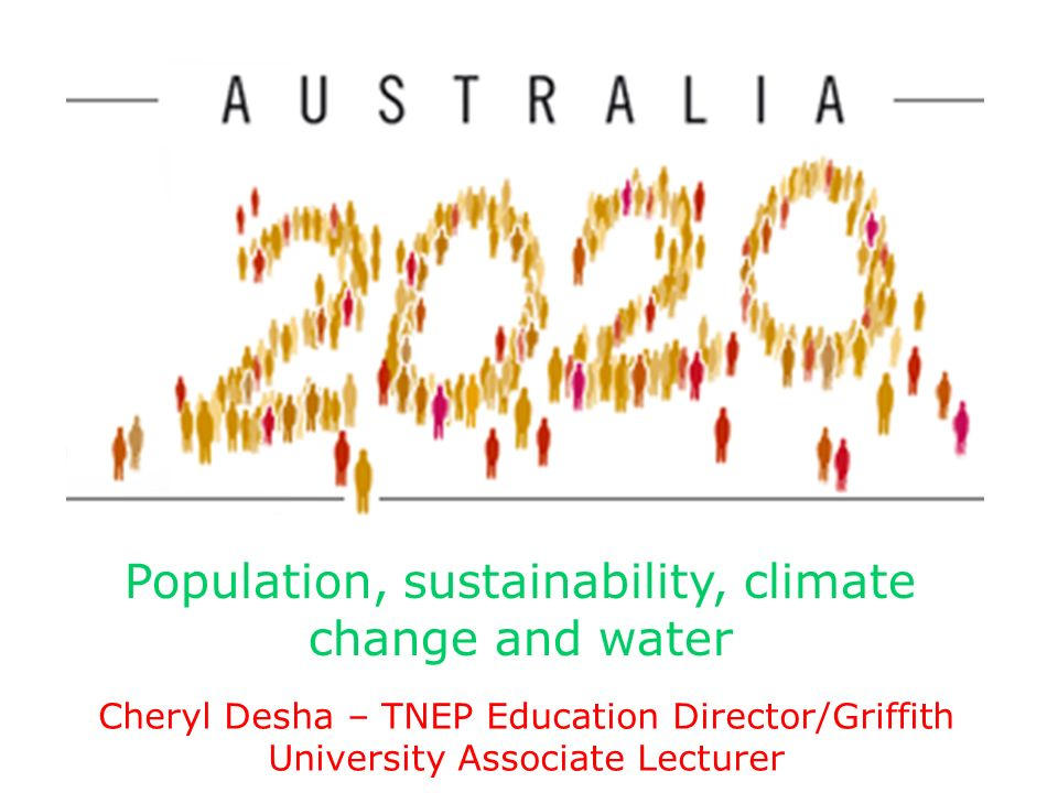 Population, sustainability, climate change and water