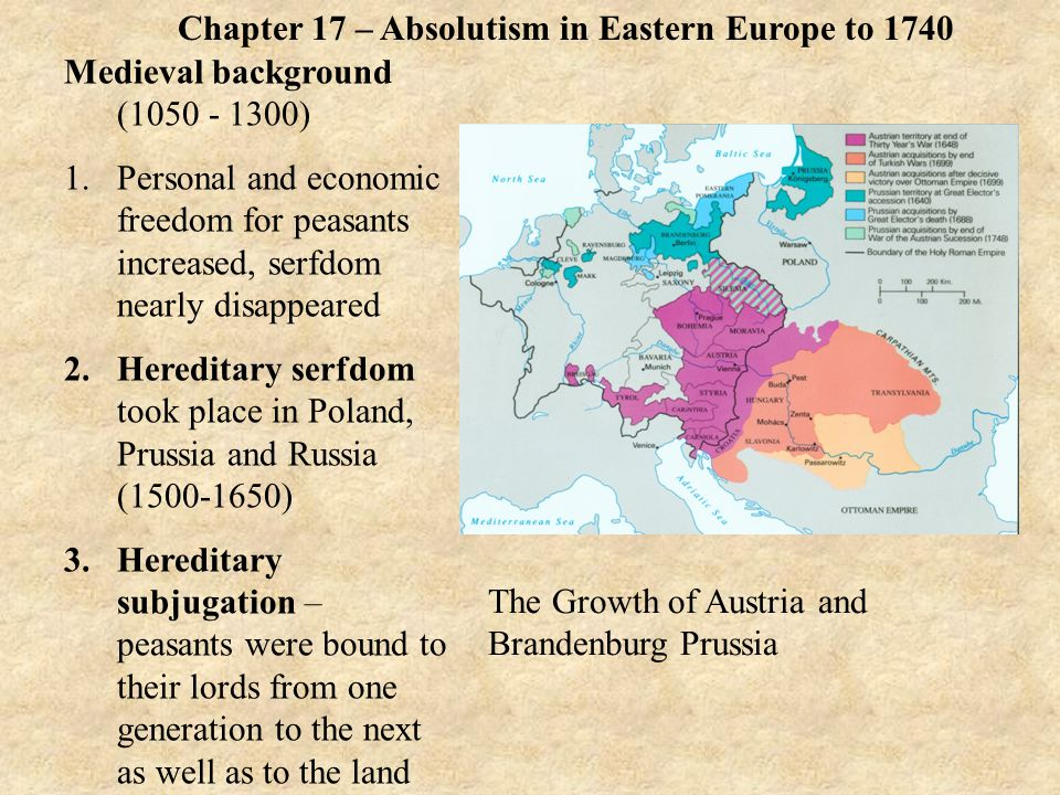 russian absolutism Main themes: 1 the austria, prussia, and russia were able to establish , divided or loyal nobility so that this period is known as the age of absolutism.