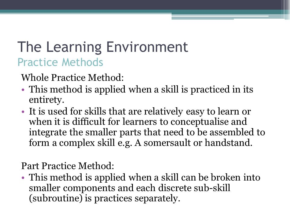 """learning practical skills in a clinical environment There is growing acknowledgement that clinical skills are valuable and best learnt in a """"hands on"""" environment40 this teaching and learning philosophy recognises that learning by doing in a situated learning environment adds depth to students' learning and prepares them for professional practice41 erickson has argued."""