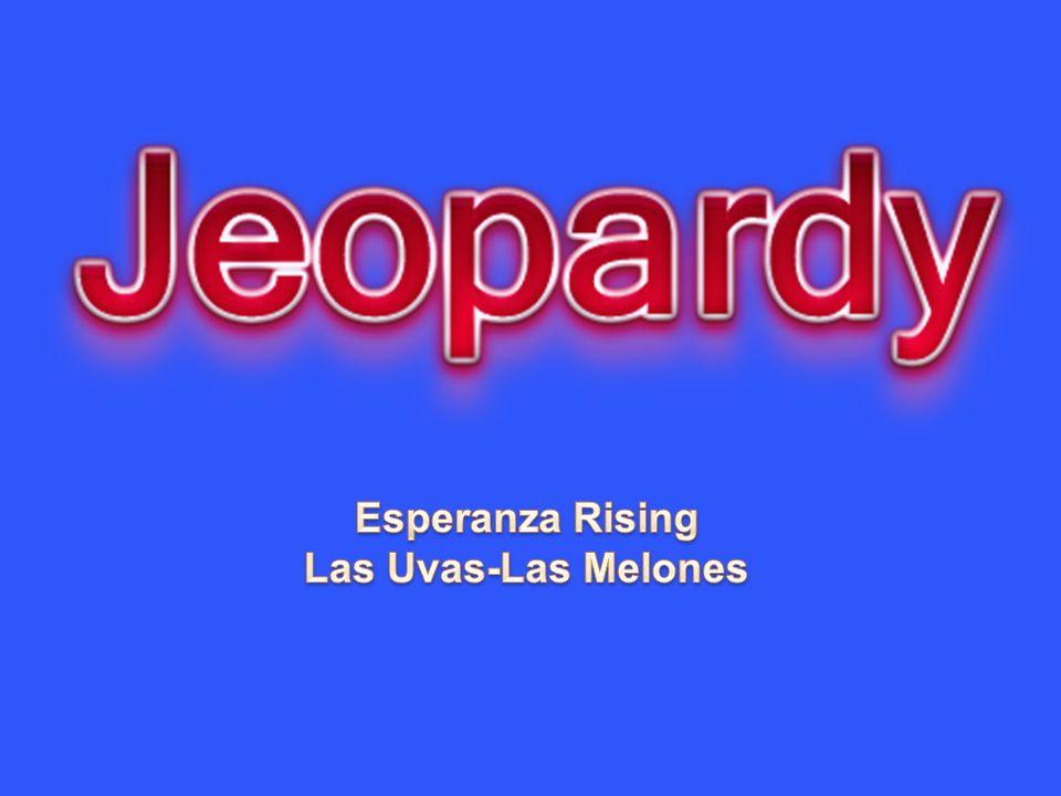 Esperanza Rising Las Uvas-Las Melones