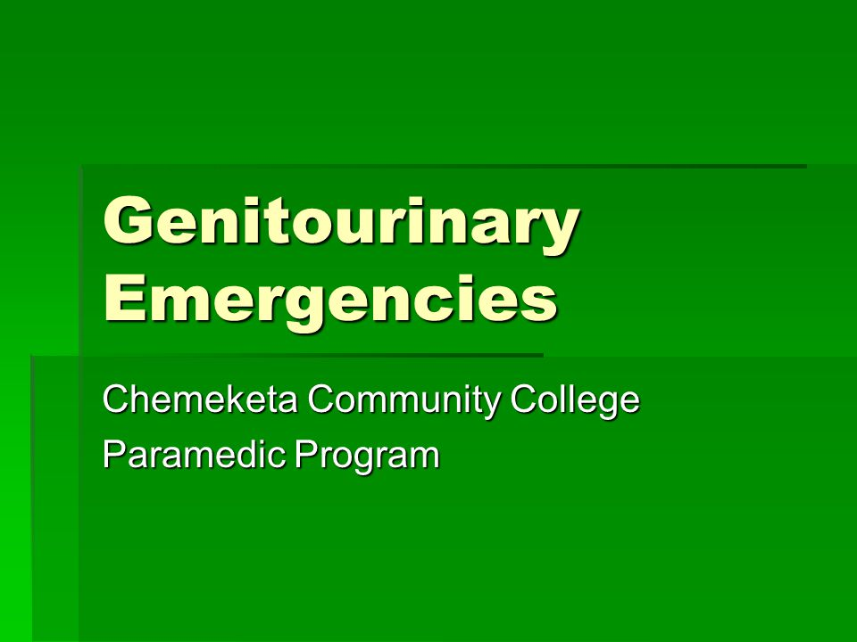 Genitourinary Emergencies