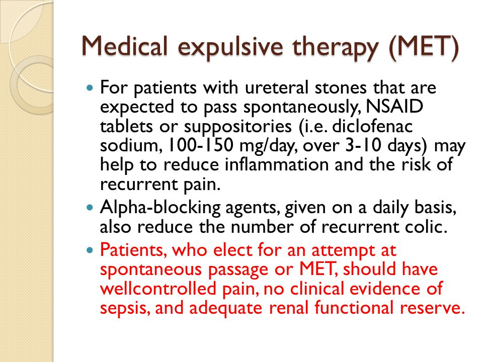 treatment of acute renal colic rectal diclofenac sodium Mittel der ersten wahl sind metamizol, indometacin und diclofenac  the severe  pain of a renal colic is an emergency and requires a fast and sufficient analgesic   spasmolytic agents are unnecessary in the treatment of renal colic  study of  the efficacy of dipyrone, diclofenac sodium and pethidine in acute renal colic.