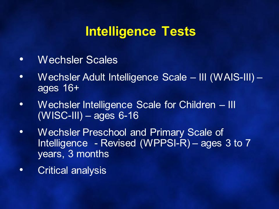 the wechsler preschool and primary scale of intelligence personality assessment i psyc 4500 introduction to 832
