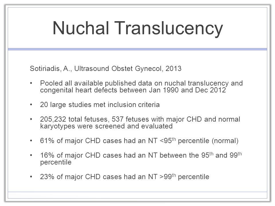 Risk Factors for CHD- Indications for Fetal Echo Revisited ...