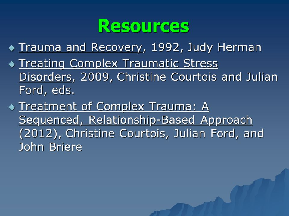 trauma informed paper based on judith The creation of trauma-informed systems of care  and trauma-informed care: a discussion paper  judith herman's trauma theory within.