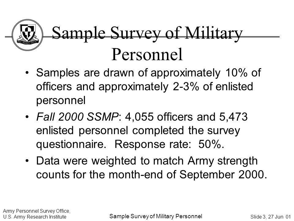 Sample Survey of Military Personnel
