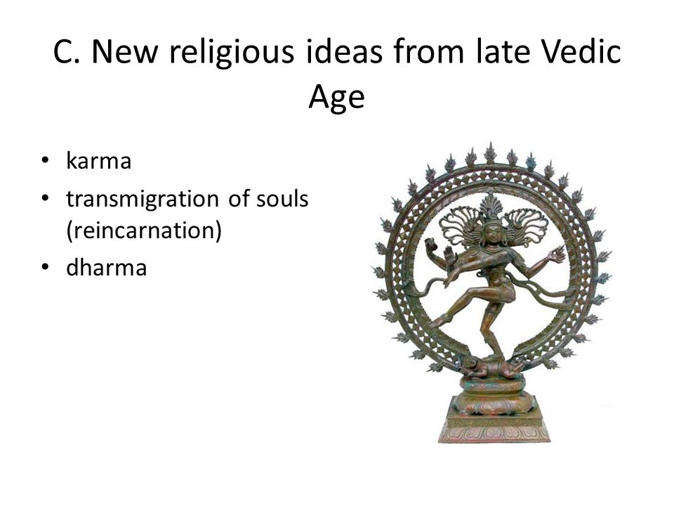 C. New religious ideas from late Vedic Age