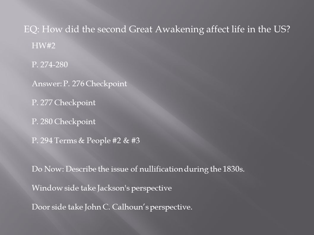 effects of the second great awakening