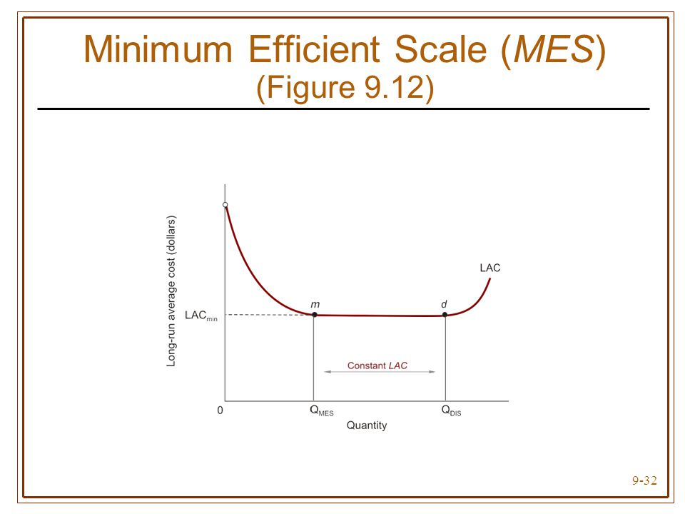 minimum efficient scale