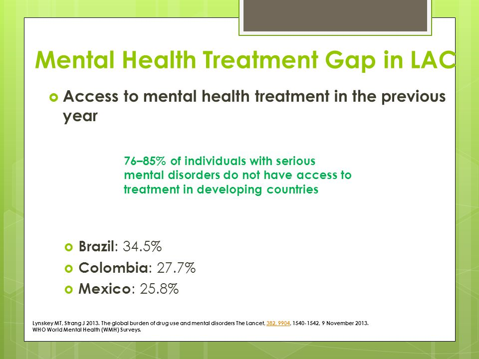 mental health care for latin americans Latino americans comprise the largest ethnic/racial minority group in the united states addressing disparities in mental health care for latinos.