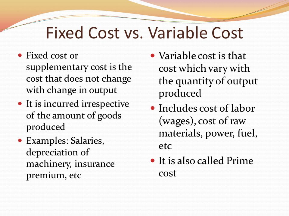 Types of Costs by Behavior