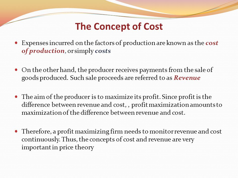 an analysis of the concept of amalgamate and the profit maximization Price theory lecture 5: theory of the firm i the concept of profit maximization in the theory of the consumer, we assumed that consumers act to maximize their utility this analysis leads to the following general conclusion.