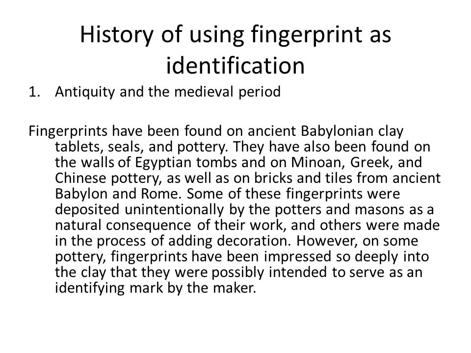 Fingerprint ppt video online download 2 history publicscrutiny Choice Image